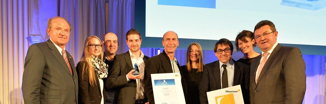 Bayerischer Qualitaetspreis 2015 © Phaesun GmbH