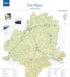 Mehr Freiraum Landkarte © Allgäu GmbH