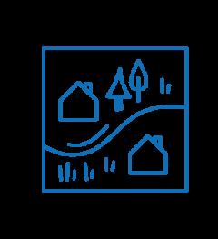 Icon Checkliste Gebäude Grundstücke Belastungen