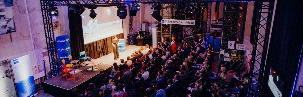 Allgäuer Gründerbühne 2019 bei Allgäu Digital © Allgäu GmbH, Philip Herzhoff